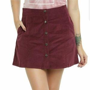 Riverdale Inspired Burgundy A-Line Mini Skirt